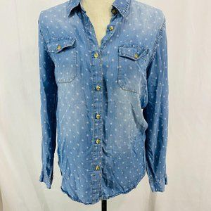 Buttons Chambray Button Front Top